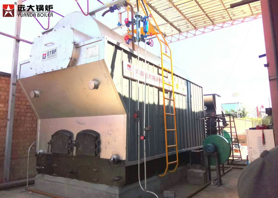 Solid Pellet Fired Chain Grate Boiler Automatic Fuel Operation With Chain Grate