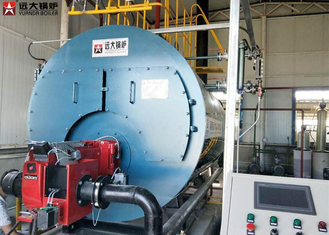 Automatic Industrial Natural Gas Steam Boiler Three Pass Type Boiler 1 Ton